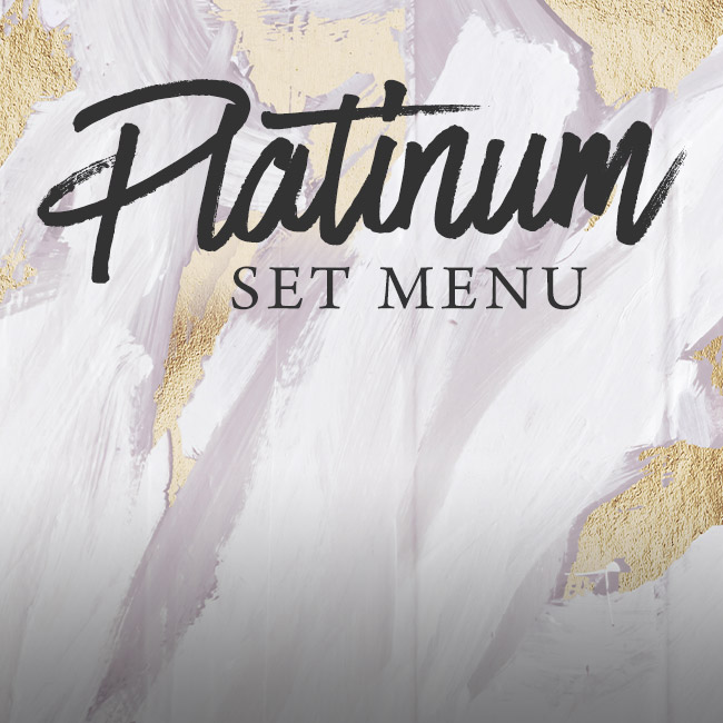 Platinum set menu at The Plough Inn